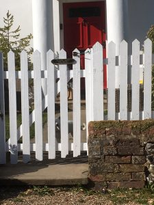 Fresh coat of paint on the gate and fence